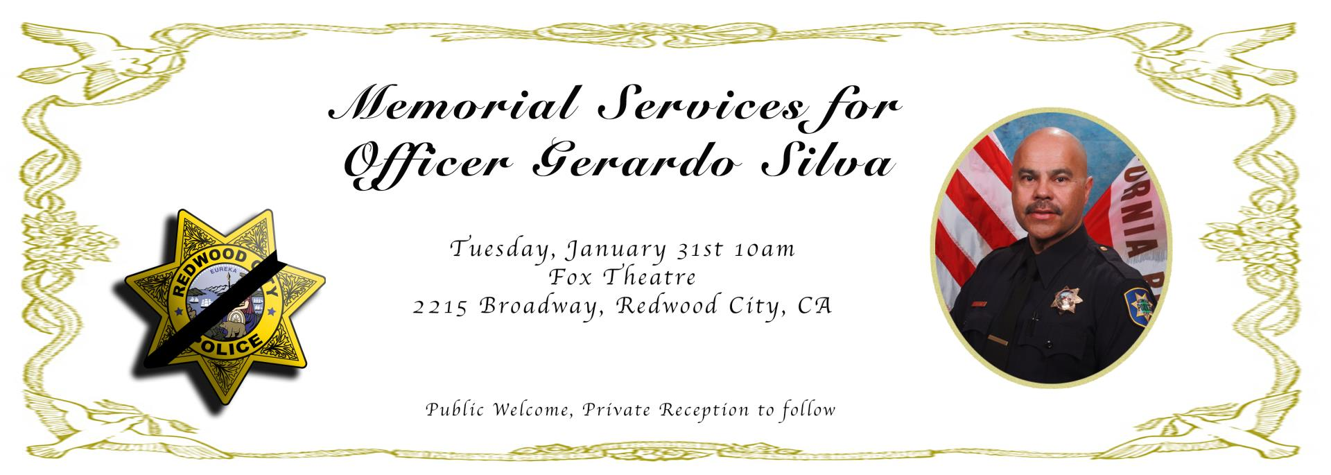 Redwood+City+made+a+public+announcement+of+Silva%27s+memorial+on+their+website.