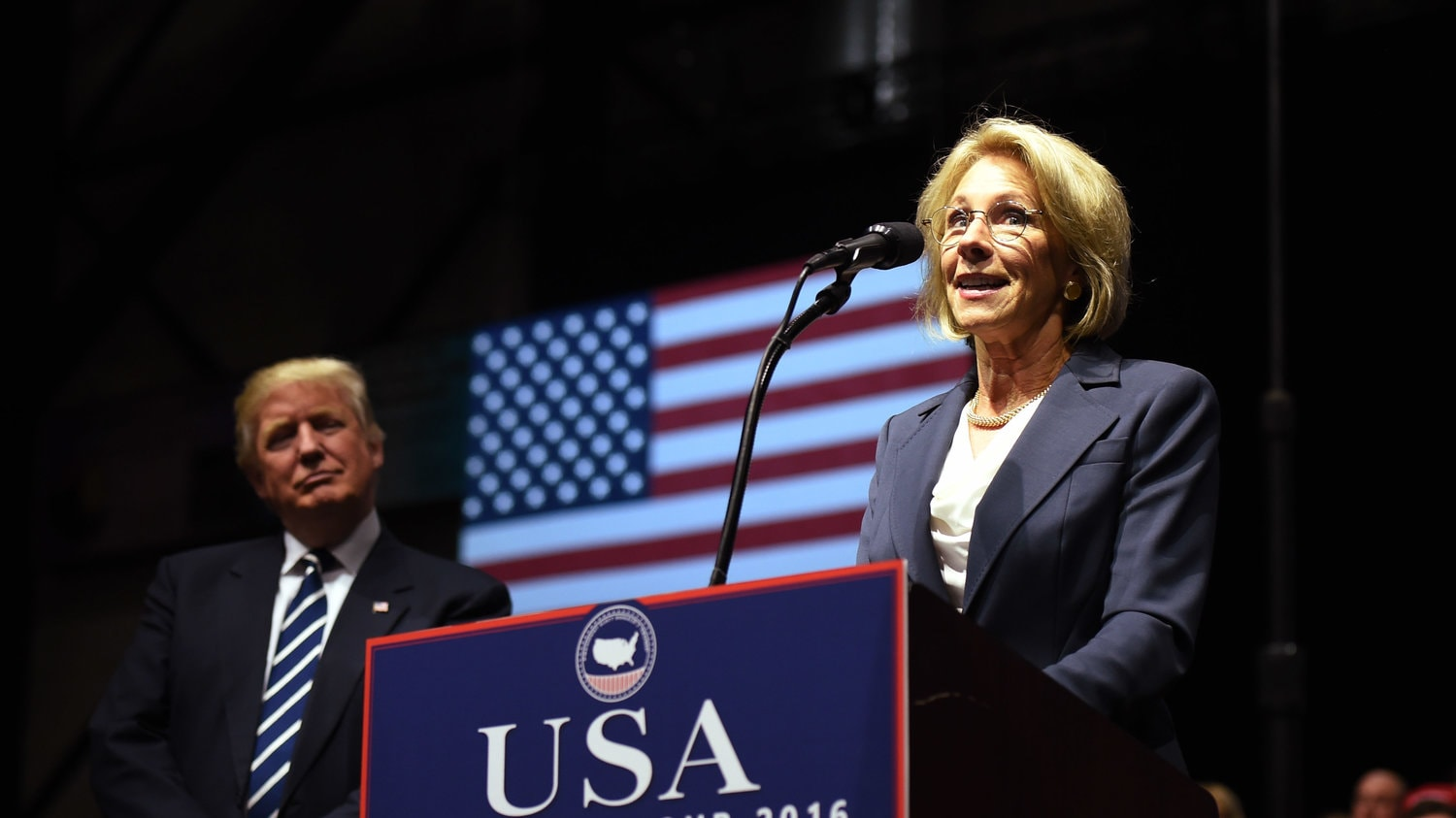 Vice President Mike Pence broke the 50-50 stalemate in the Senate, making Betsy DeVos the next education secretary.
