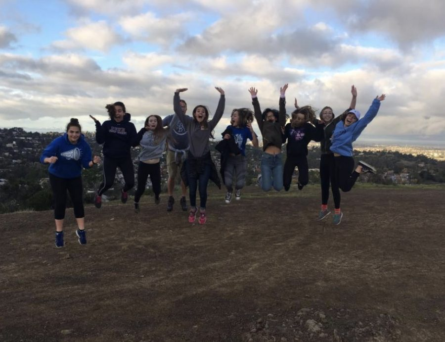 A+group+of+leadership+students+hiked+up+to+the+hills+above+Carlmont+for+IMPACT+Club%27s+first+meeting.