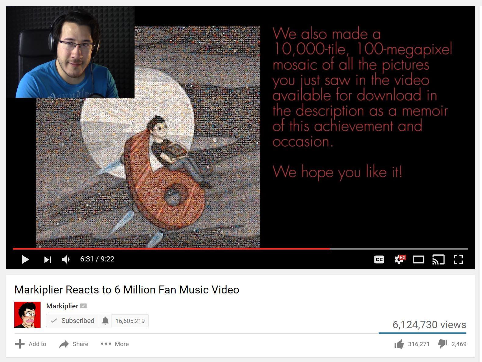 When Markiplier, one of the most popular YouTubers, reached six million subscribers his fans made a video showing their appreciation for all of his hard work. This gesture, and the emotional impact it had (with Markiplier quickly ending up in tears), shows the uniqueness of YouTube's audience-creator relationship.