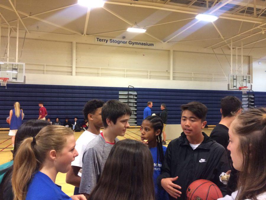 Freshman+Joe+Sison+gives++a+speech+to+his+freshman+team.