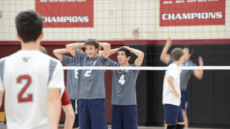Boys Varsity Volleyball defeats Gators through a team effort