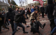Protesters, anti-protesters, and anarchists collide at 'March 4 Trump' rally
