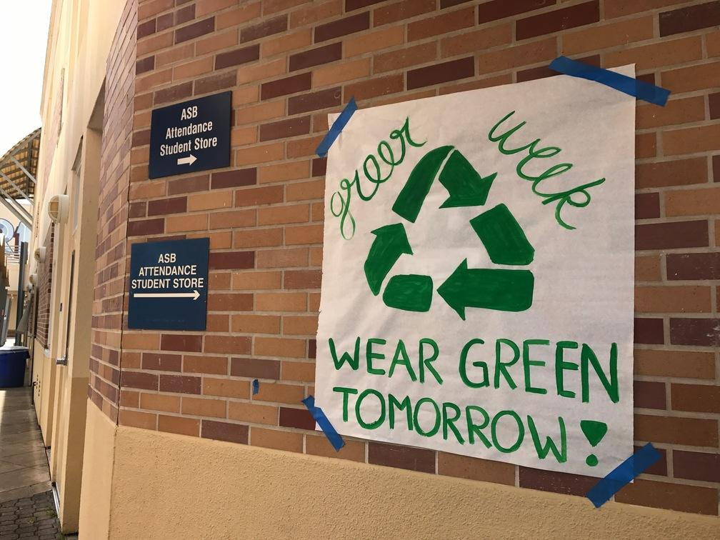 Students+participating+in+the+planning+and+execution+of+Green+Week%2C+which+took+place+from+April+24-April+26%2C+hung+posters+around+Carlmont%2C+encouraging+students+to+%22go+green.%22