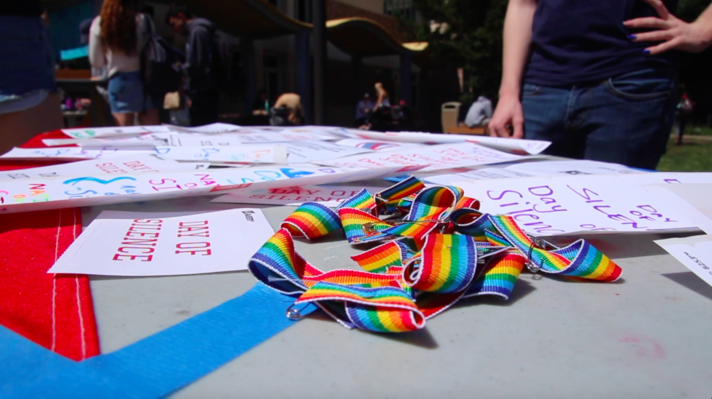 Students stay silent to show solidarity with the LGBTQ