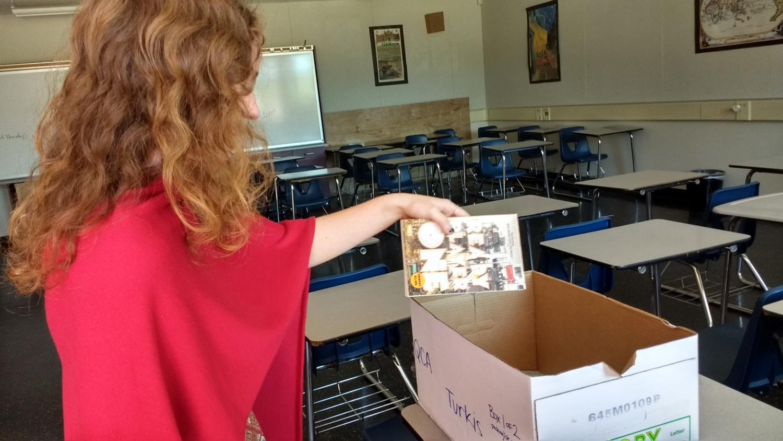 Sophomore Viviane Lorvan hopes her copy of