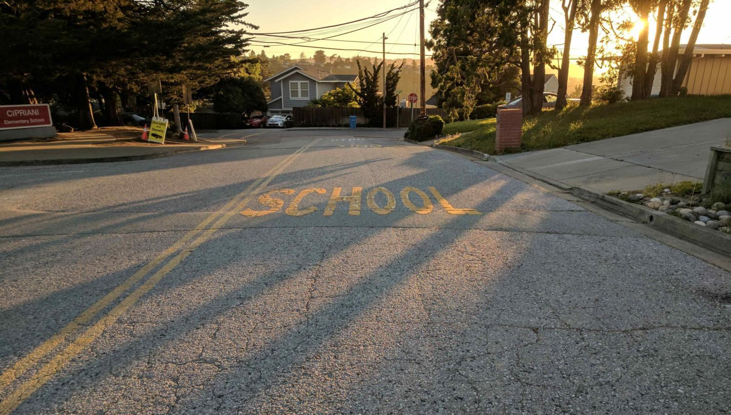 Buena Vista Avenue, home to Cipriani Elementary School, is one of the worst roads in the Bay Area.