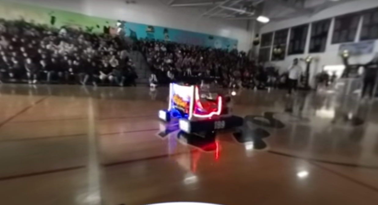 Deep Blue Robotics at the Celebration Assembly