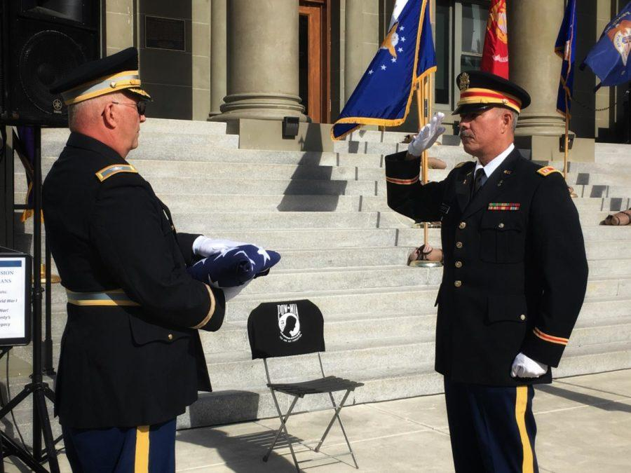 The+Flag-Folding+Ceremony+is+one+of+the+many+events+held+at+the+Redwood+City+Celebration+honoring+the+military+service+of+men+and+women+in+the+United+States.