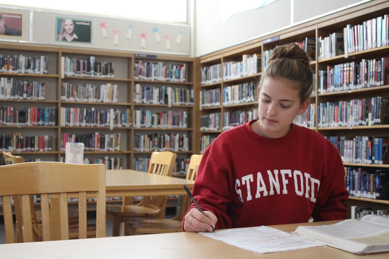 Tia Papapietro, a sophomore, dreams of going to Stanford and becoming a physical therapist.
