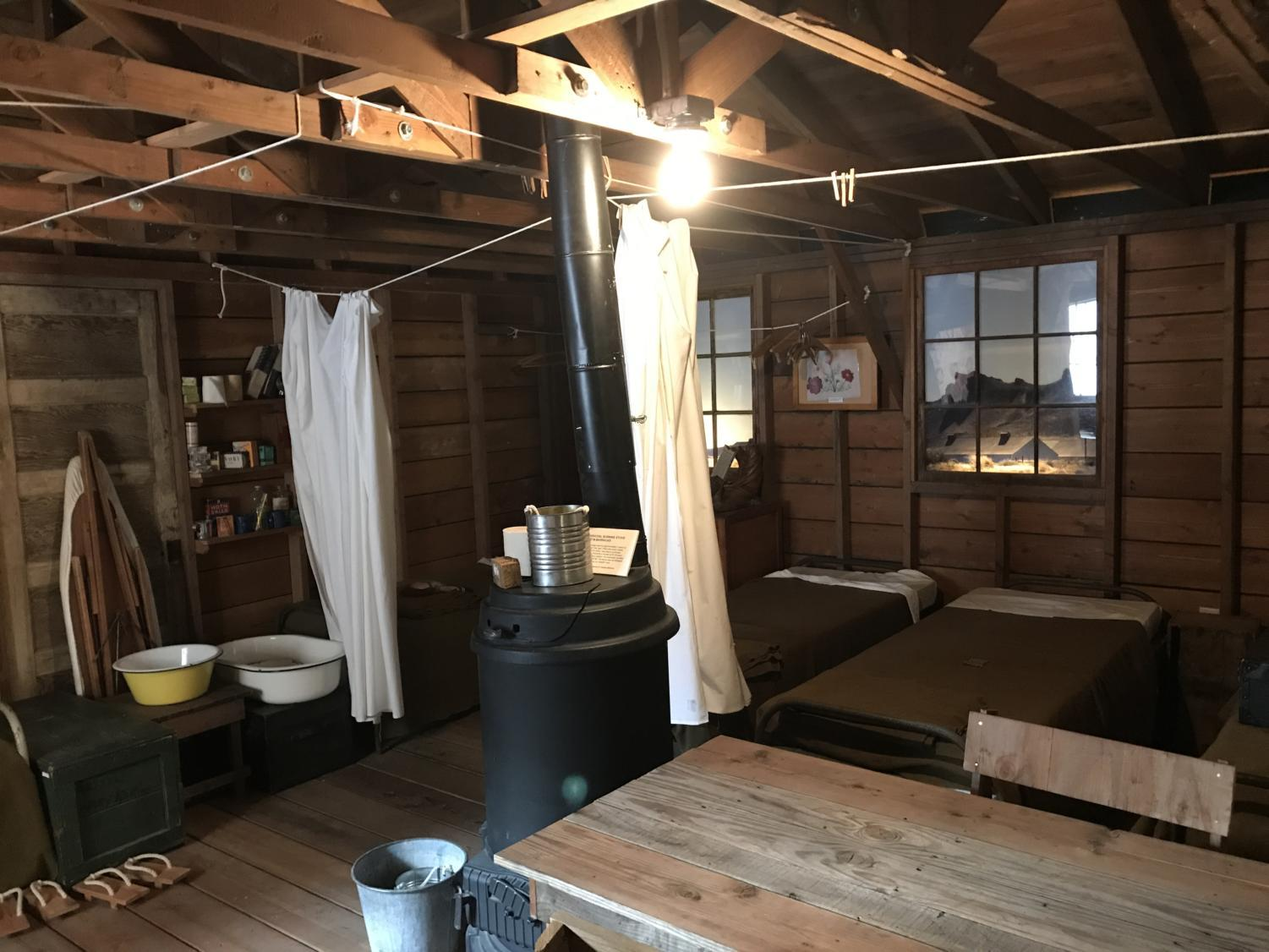 Many Japanese Americans were forced to stay in barracks like this model, which is assembled at the Japanese American Museum of San Jose.