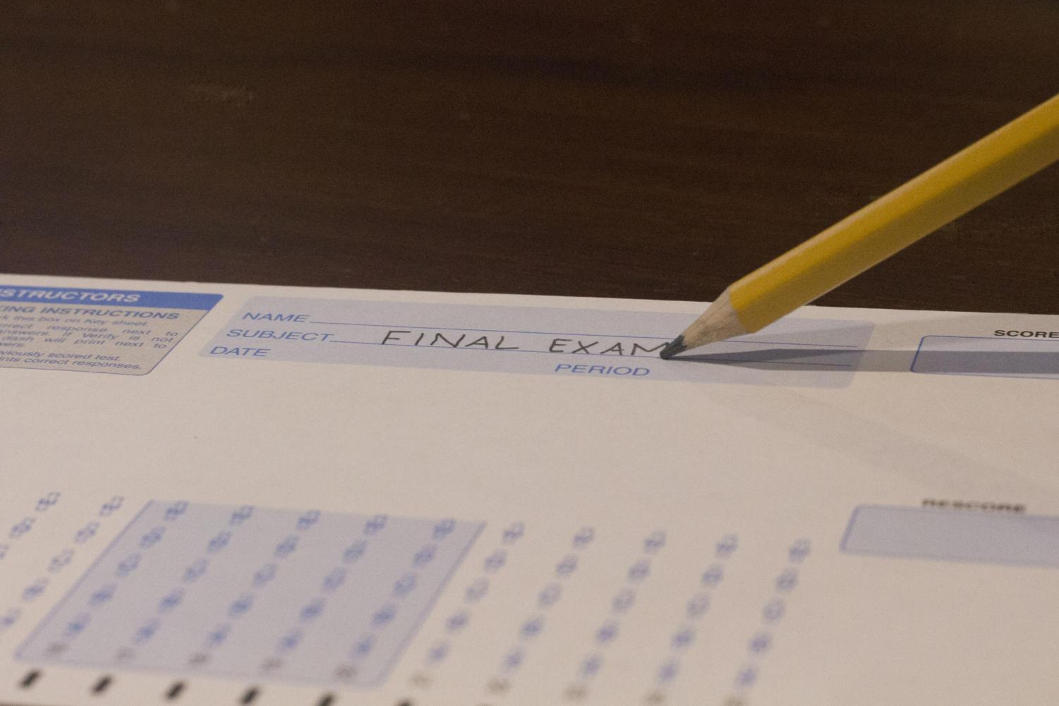 Beginning this school year, the Monday of final exams week will begin with a minimum day schedule in the morning, followed by a lunch period and then the sixth-period final.
