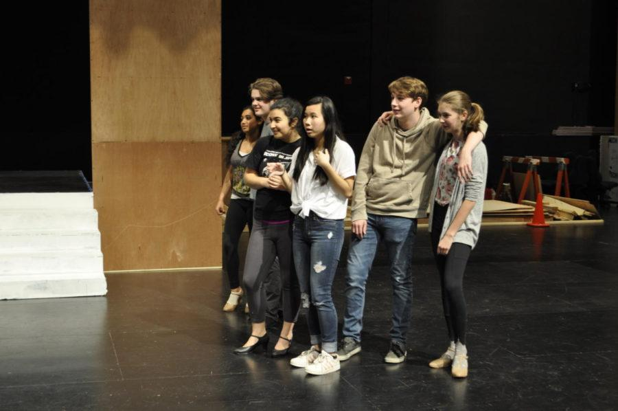 The+cast+practice+their+section+of+the+play+to+prepare+for+their+upcoming+performances.