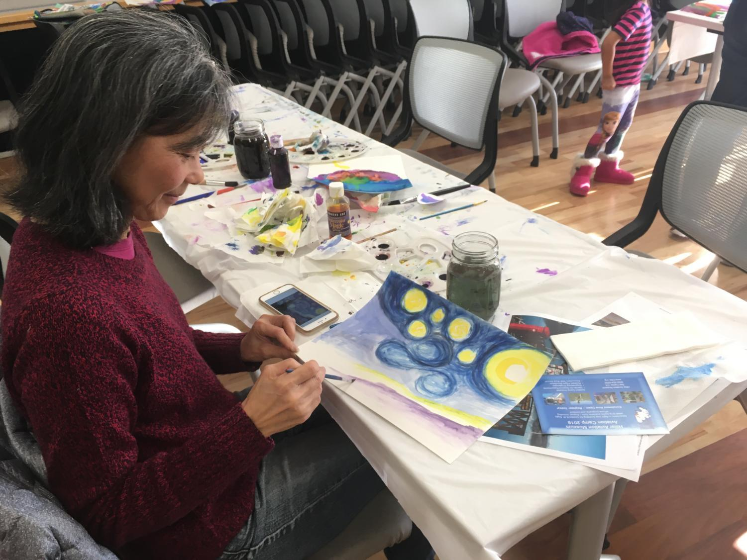 Watercolor+painting+was+one+of+the+many+activities+offered+at+the+S.T.E.AM.+Fair.
