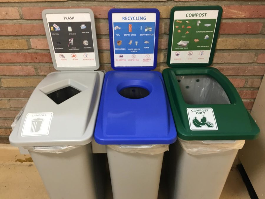 New+tri-bin+sets+can+be+found+throughout+the+hallways+of+Carlmont+High+School.