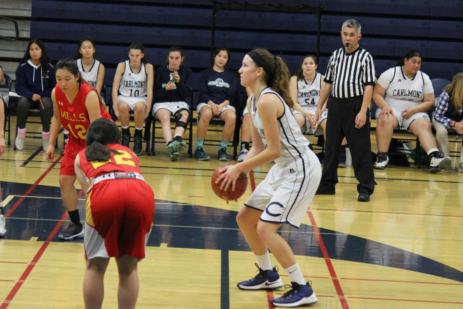Junior Ashley Trierweiler sets up to take a free throw mid-game.