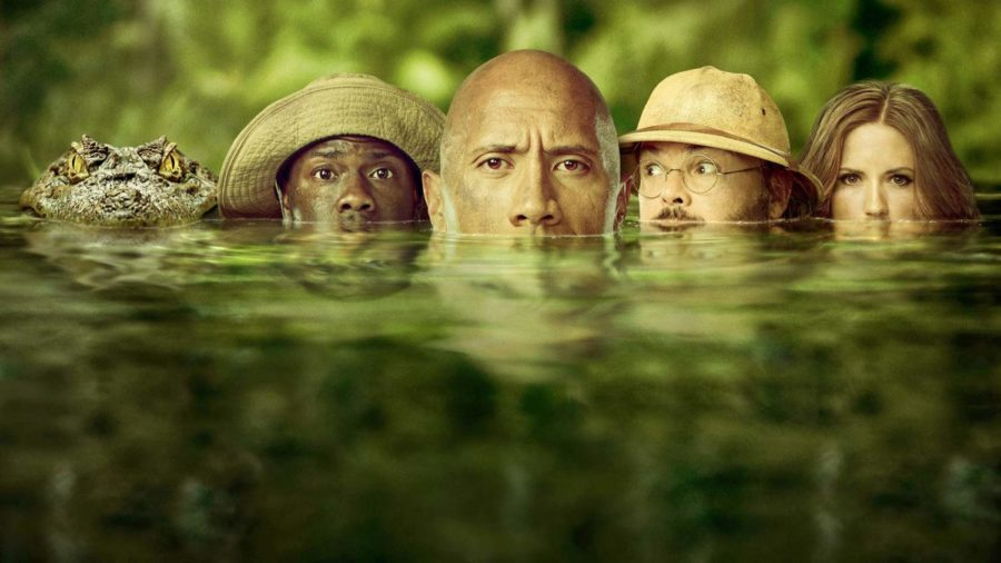 %27Jumanji%3A+Welcome+to+the+Jungle%27+stars+Dwayne+Johnson%2C+Kevin+Hart%2C+Jack+Black%2C+and+Karen+Gillan.