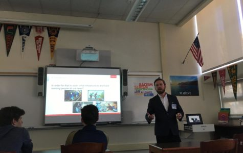 Mechanical engineer teaches students about clean energy