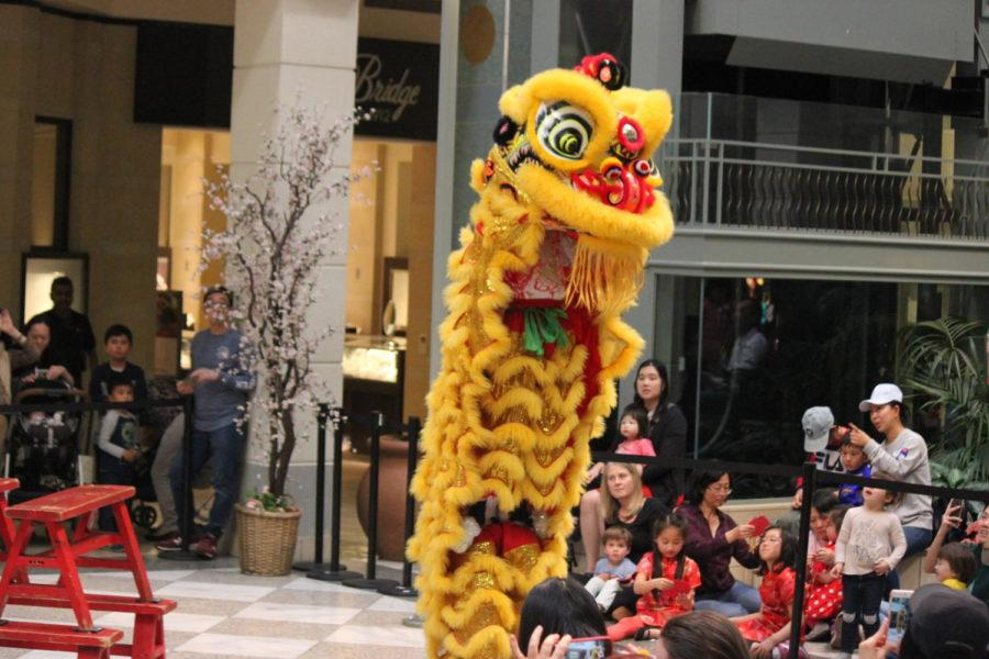Lion+dance+performers+show+off+their+agility+and+coordination+to+make+the+lion+stand+upright.