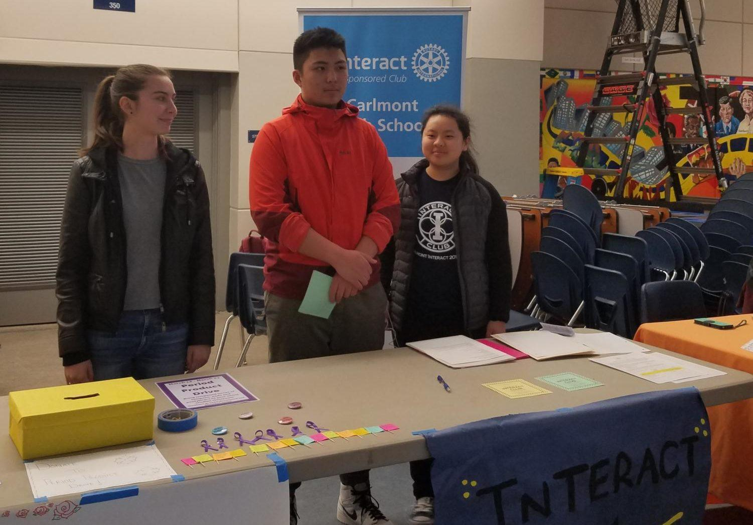 Interact Club promotes itself to parents and students during an Open House in the Student Union.