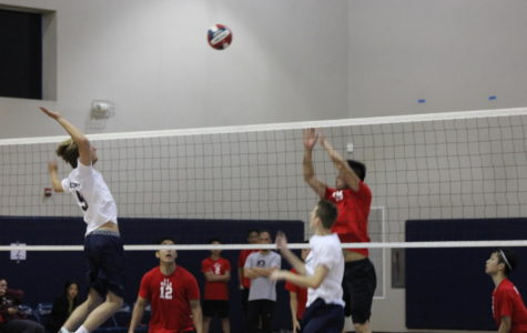 Varsity boys' volleyball claims a victory against the Vikings