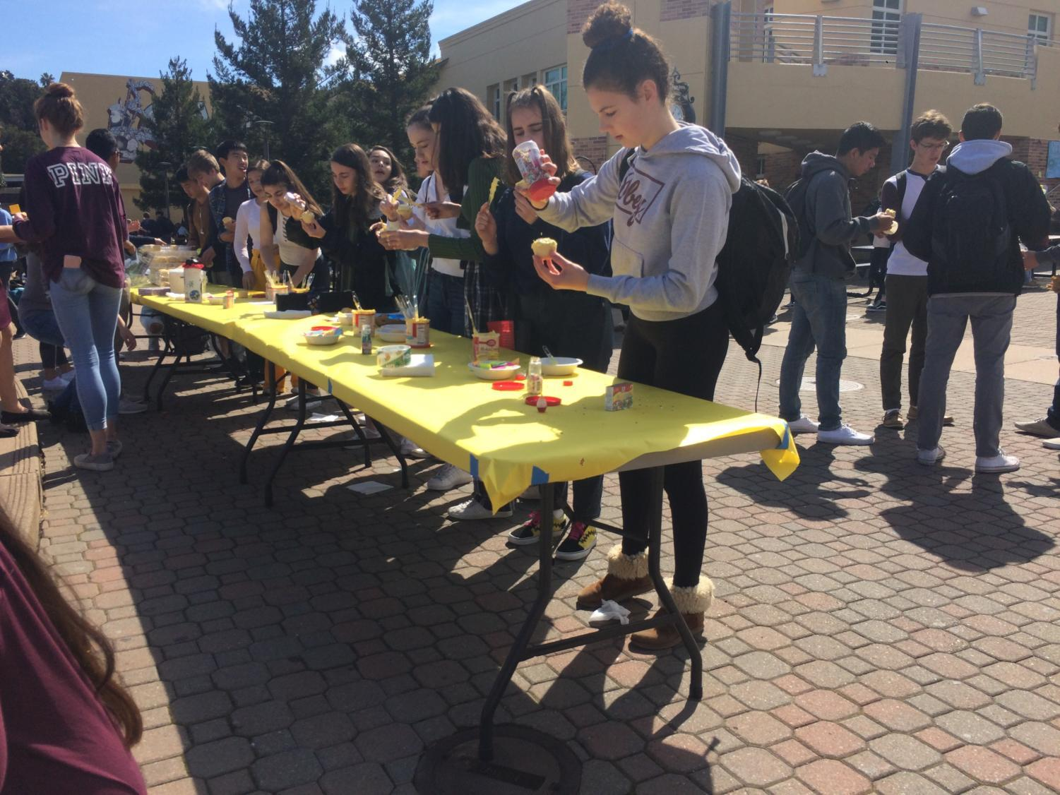 Another+activity+was+decorating+cupcakes+in+the+quad+with+proceeds+going+towards+achieving+gender+equality.
