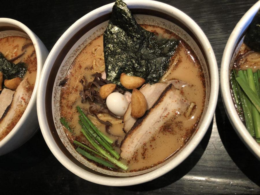 Ramen+Dojo%27s+Pork+Garlic+Ramen+with+all+the+traditional+toppings+and+Ramen-style+noodles.