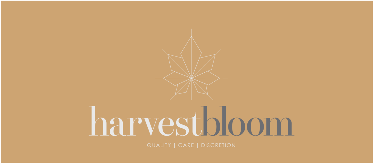 The official logo of a Harvest Bloom, a marijuana delivery service that was recently to able plant roots in Redwood city