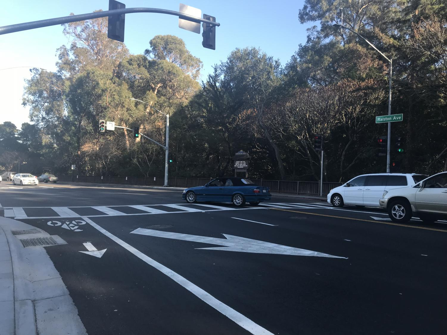 The new traffic light at the intersection of Ralston and South creates mixed feelings. Some think it will help traffic but others feel differently.