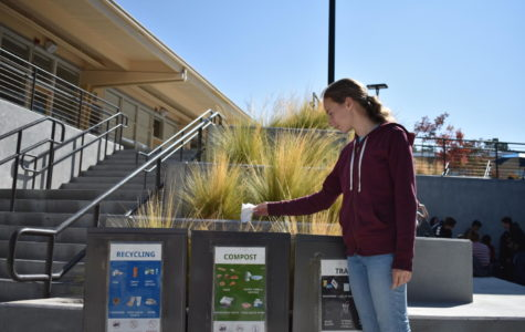 Carlmont Green Team works to improve campus with tri-bins trash system