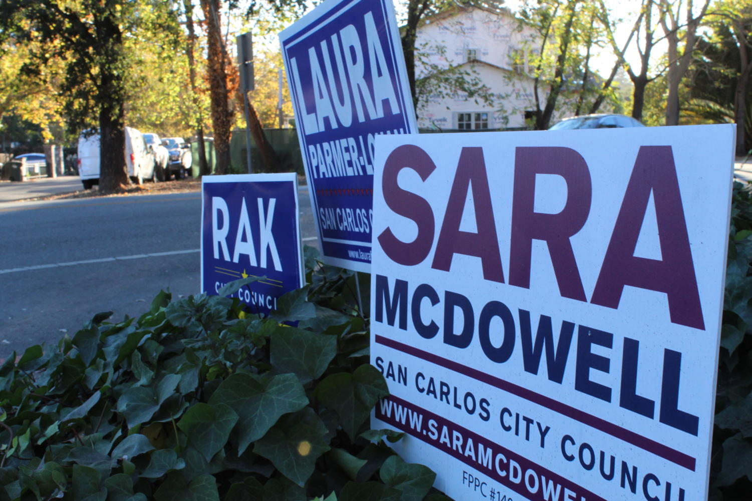 Election signs pop up across San Carlos as race heats up.