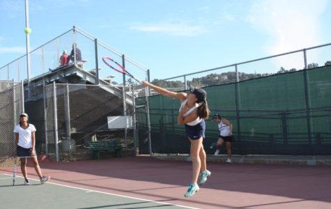 Girls tennis dominates over Woodside