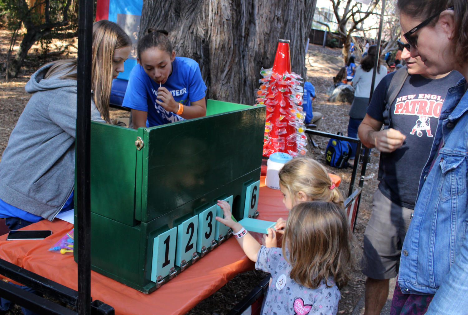Children enjoy one of Key Club's many games at the Save the Music festival.