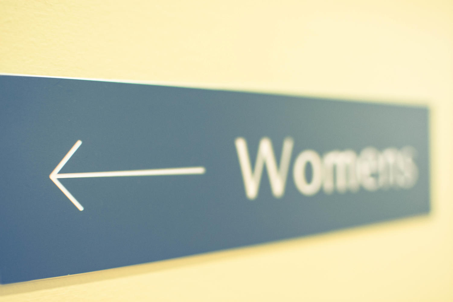 Women's rooms tend to have longer lines because of the female anatomy and the amount of space toilet stalls take up.