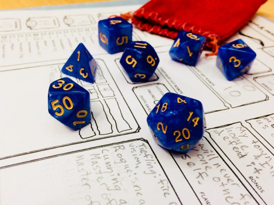 The+popular+game+Dungeons+and+Dragons+use+dice+of+different+shapes+to+move+the+game+forward.