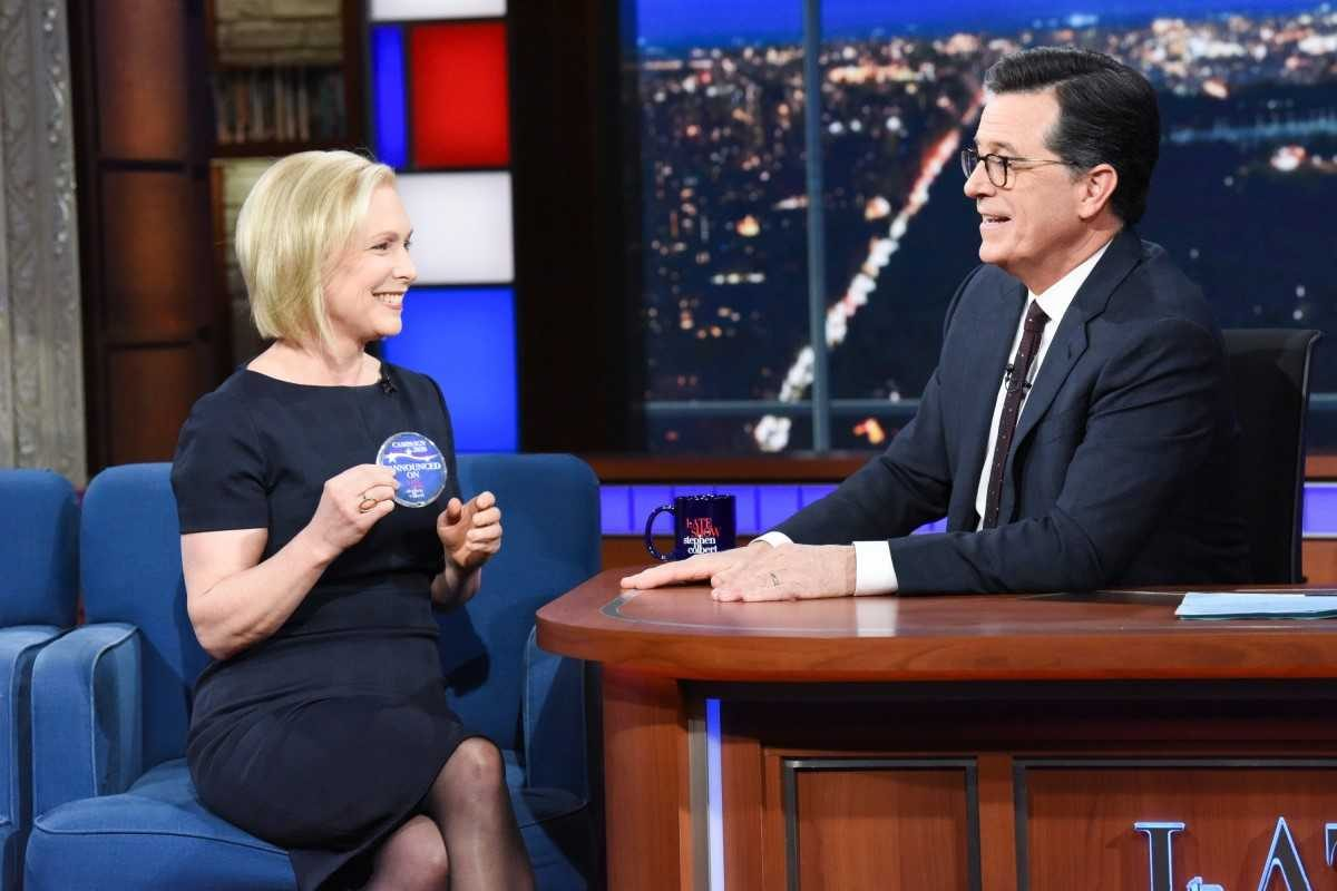 Kirsten Gillibrand announced her entry into the 2020 presidential race on The Late Show With Stephen Colbert, targeting a specific group of potential voters.