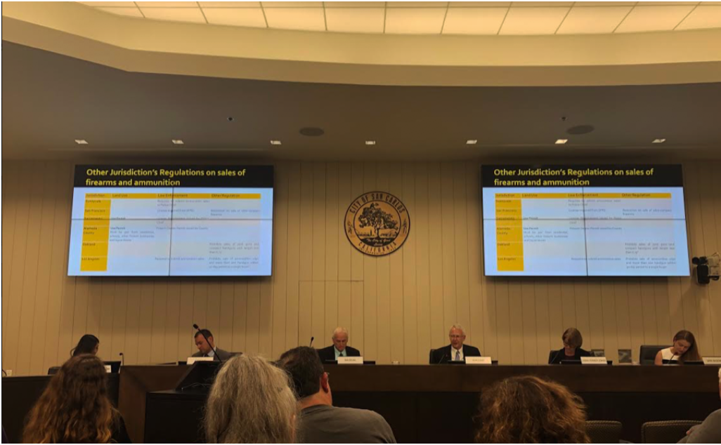The planning commission presents their recommendations.