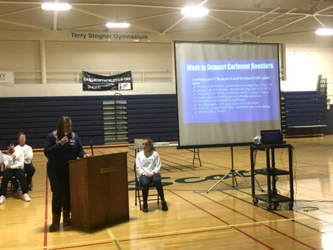 Parents attend Spring Sport Parent Night