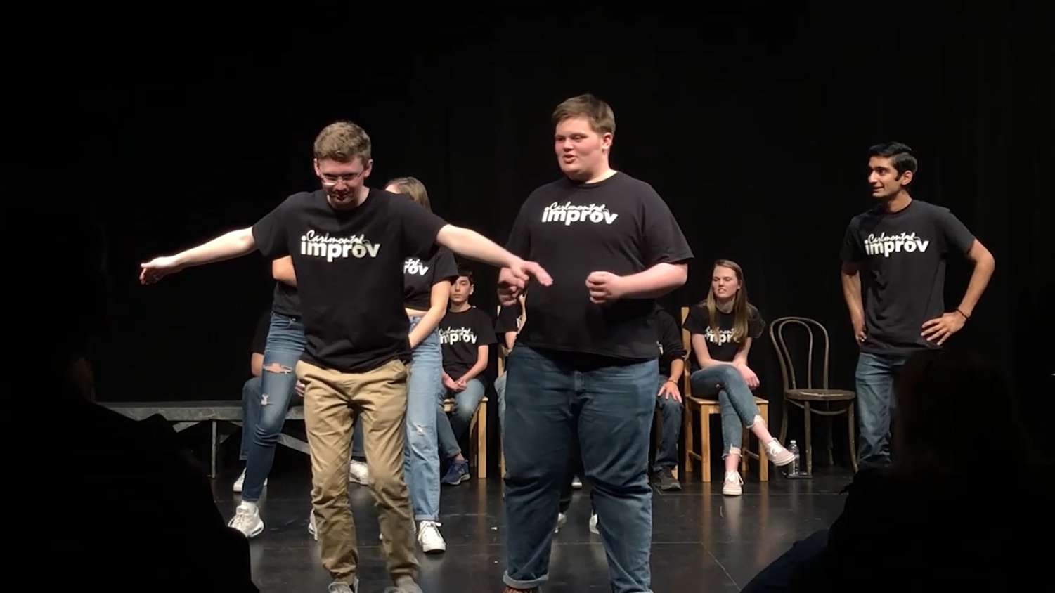 Carlmont's improv team performs in the blackbox theater.