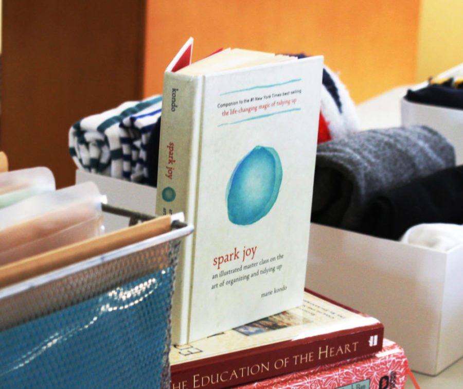 Marie+Kondo%27s+%22The+Life-Changing+Magic+of+Tidying+Up%22+book+is+on+display.+