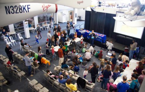 World record paper airplane folder excites museum goers about science