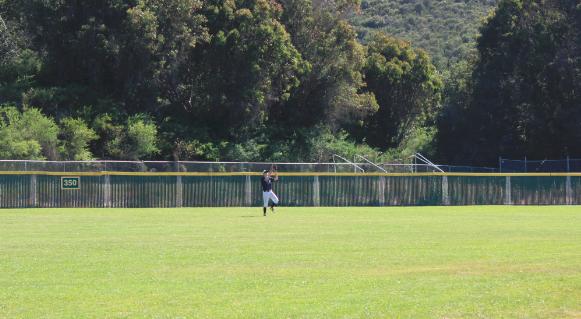 Jasper+Loo%2C+a+junior%2C+catches+the+ball+in+center+field.
