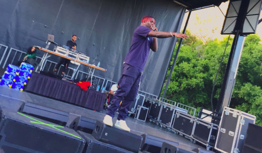 Lil+Yachty+gets+on+stage+to+perform+during+Blackfest.+