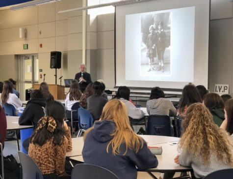 Holocaust survivor speaks to history classes