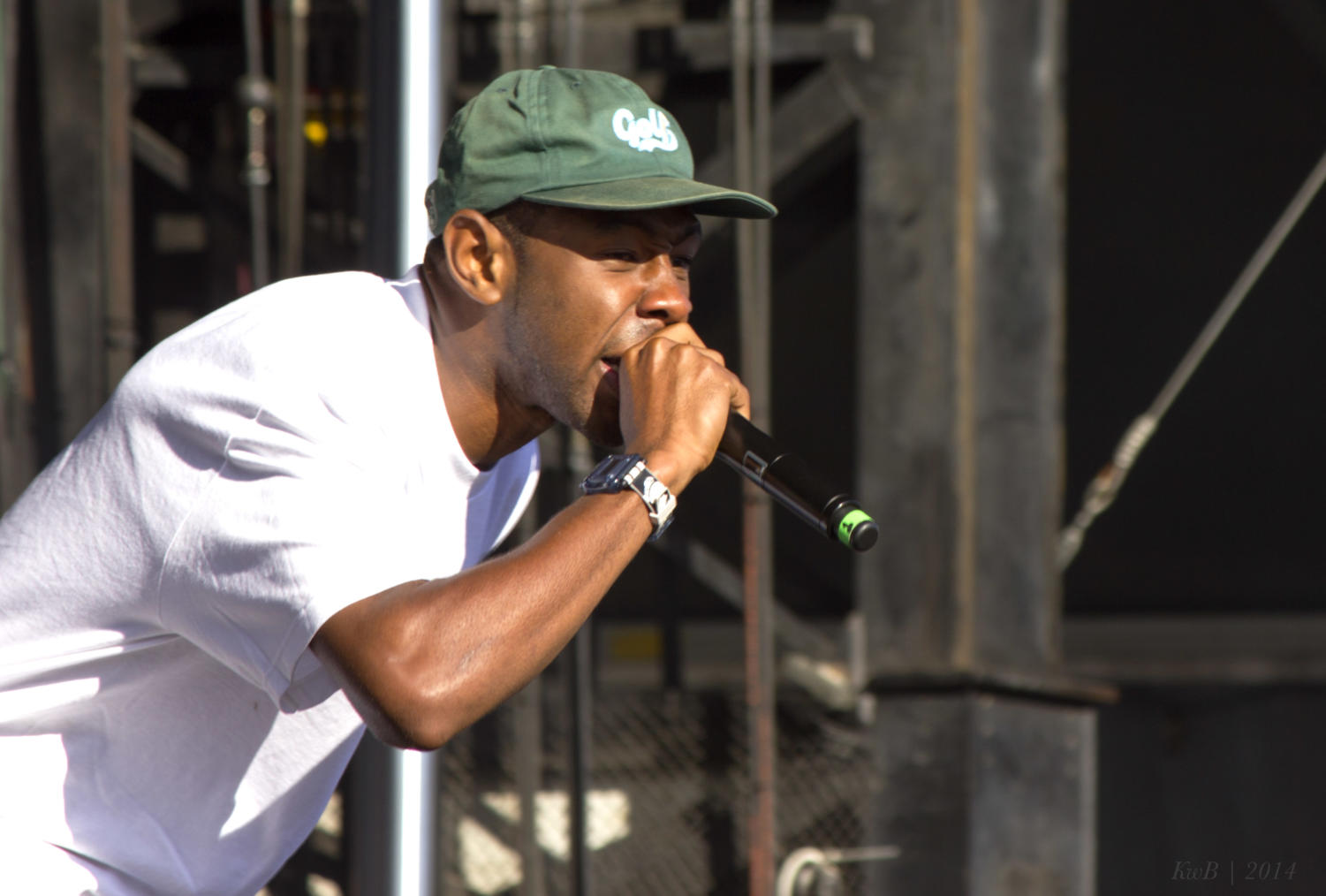 California rapper Tyler, the Creator performs at Ottawa Bluesfest 2014.