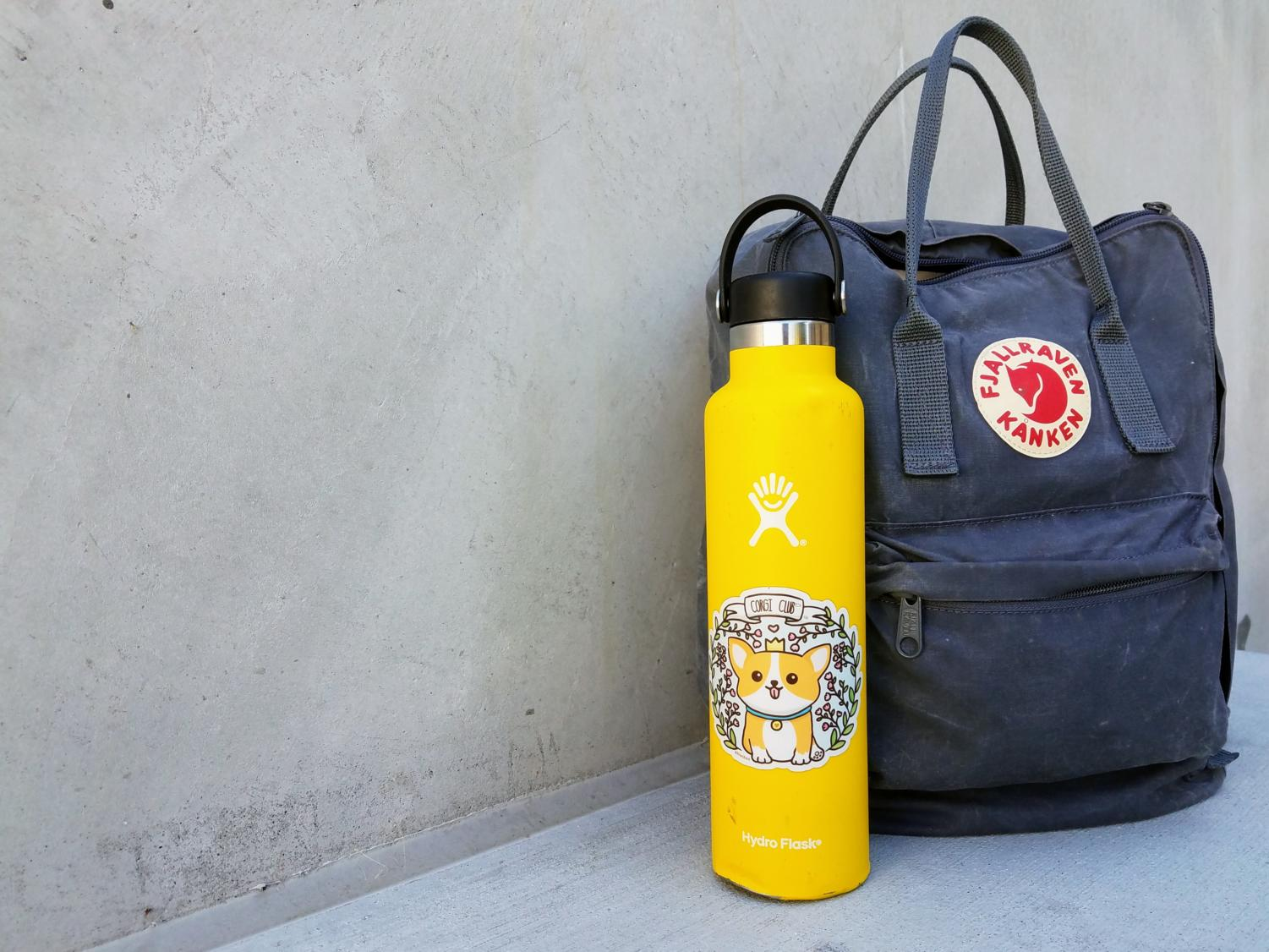Hydro Flasks and Fjällräven backpacks are part of the ridiculed VSCO girl trend.