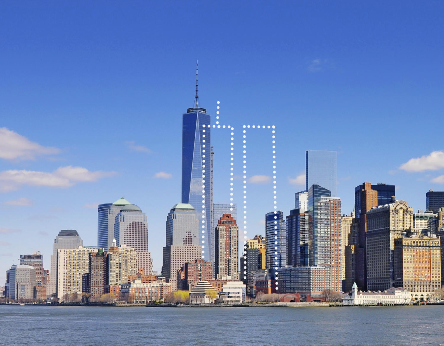 The modern New York skyline exists without the twin towers.