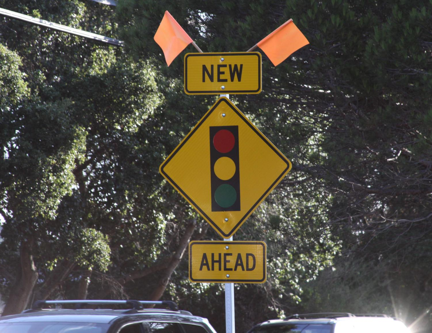 Belmont residents are still trying to get used to a new traffic signal on Ralston Avenue, which finished construction in August.