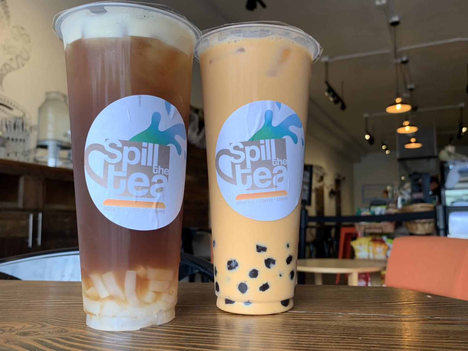 The lychee mania and the Thai tea are both phenomenal drinks.