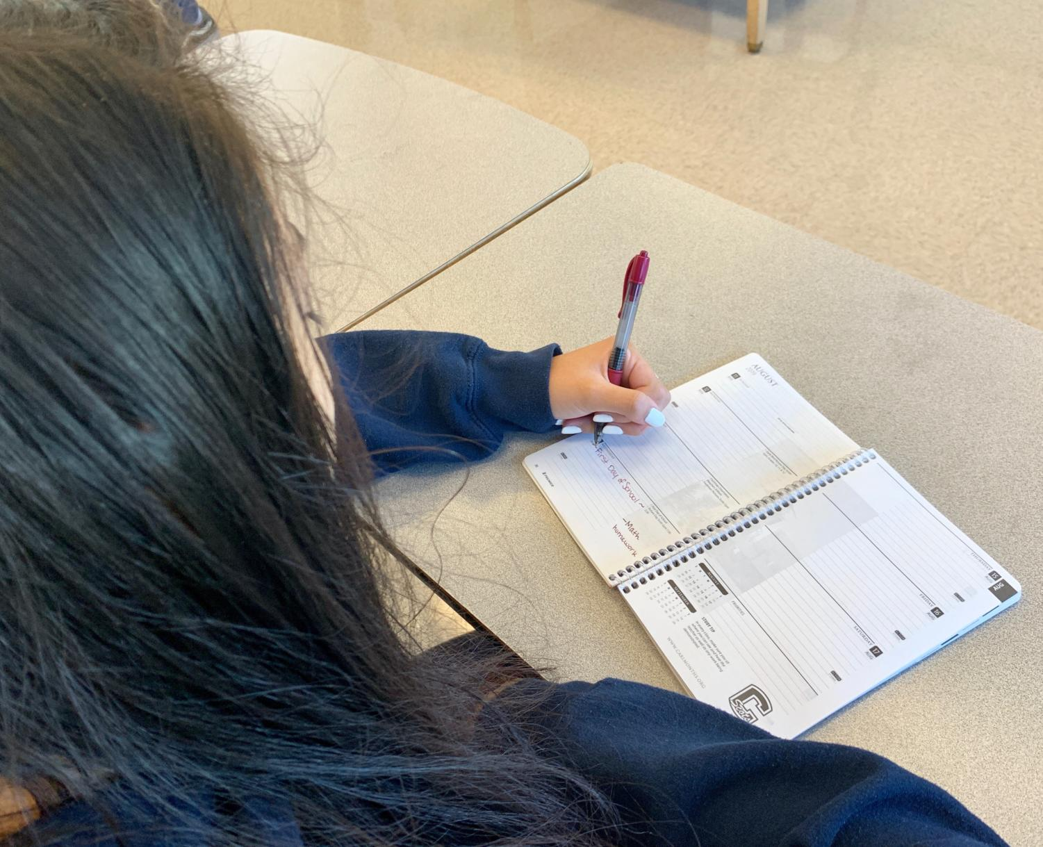 Students evaluate how the transition from summer to school has gone so far.